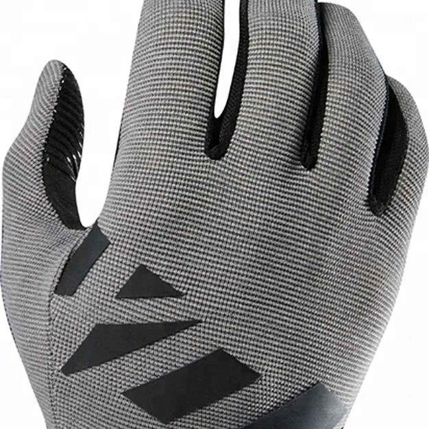 LEATHER CYCLING GLOVES HALF FINGER CROCHET BACK RACING BICYCLE RIDING MTB GLOVE