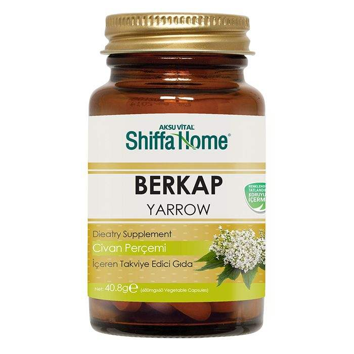 Hemorrhoids Medicine Treatment BERKAP Yarrow Extract Capsules Dietary Supplement OTC Herbal Medicine Pills