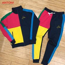 High Quality Custom Track Suit / Cheap Custom Tracksuit / Side Stripe Tracksuit Made by Antom Enterprises