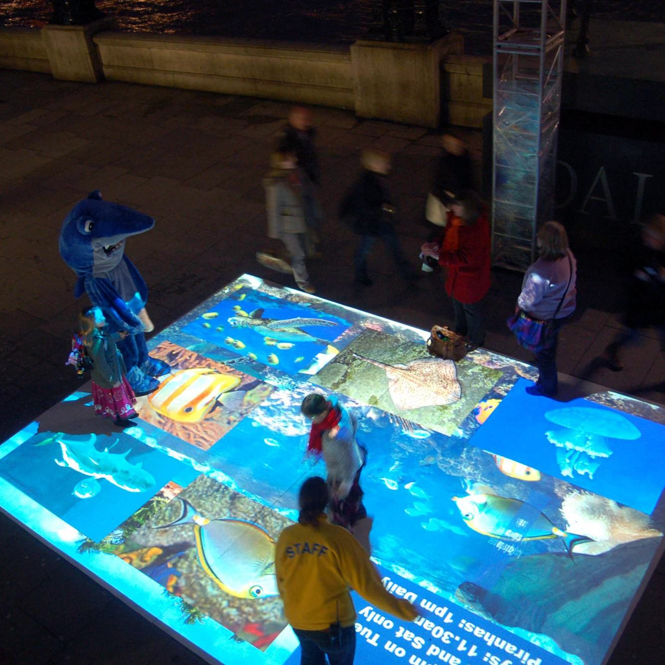 chariot Basic version 3D interactive floor, interactive projection software,interactive projection system