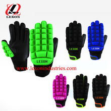 Fluorescent Color Field Hockey Gloves