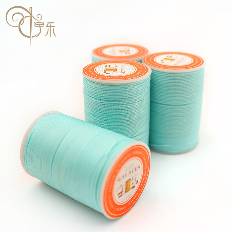 0.55mm Polyester Round Wax thread, High Strength Polyester Sewing Thread, Hand-sewn Leather Waxed thread