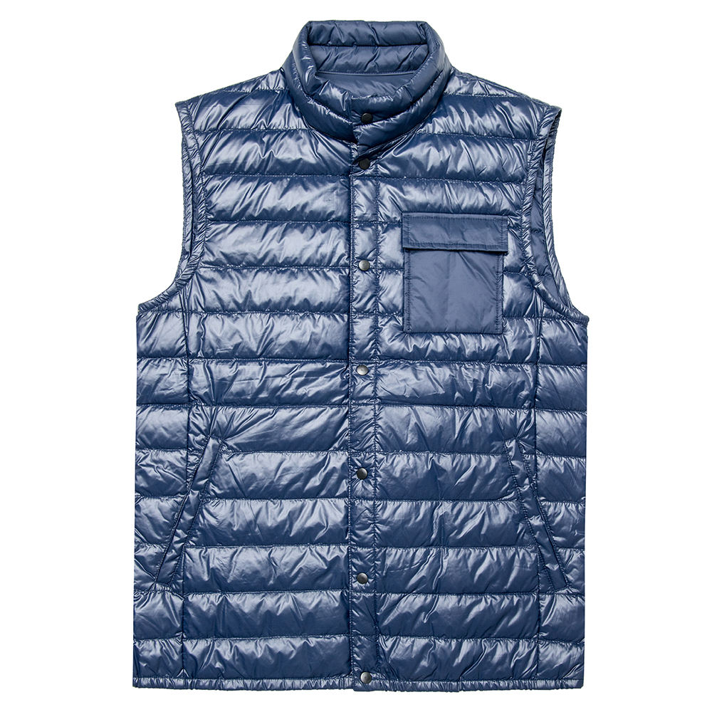 Pakistan Manufacturer Men's Puffer Vest front Pockets For Sale