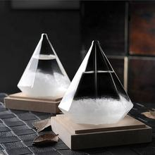 2019 Diamond Shape Storm Glass Weather Forecast Bottle Crystal chemistry vintage home  accessories