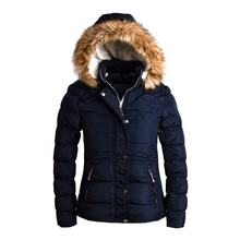 Fashionable ladies winter jacket with fur