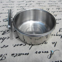 Ski Group Of Stainless Steel High Quality  Parrot Coop Cup / Bird Seed Food Feeder Bowl