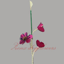 New Bulk Customized Artificial Palm Three Branch Flower shape usage Dried Flowers