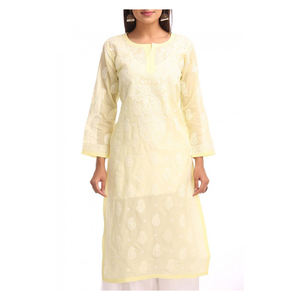lucknow Chikan kurtis 100% hand embroidered