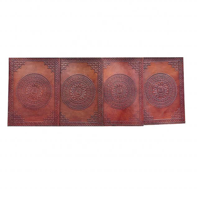 Genuine Leather Hand Made Embossed Leather Passport Cover