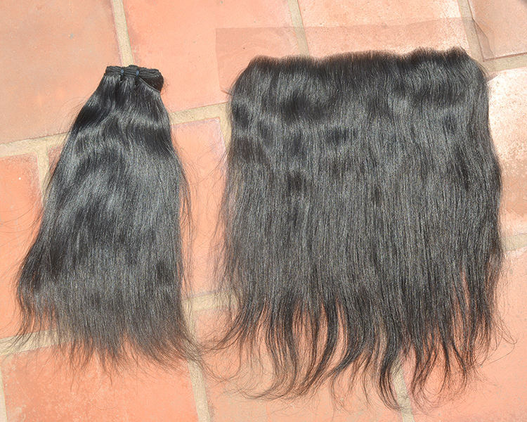 Indian Cuticle Aligned Virgin Hair bundle hair extension human temple's hair