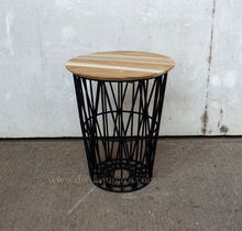 Vintage Industrial Furniture Basket Table