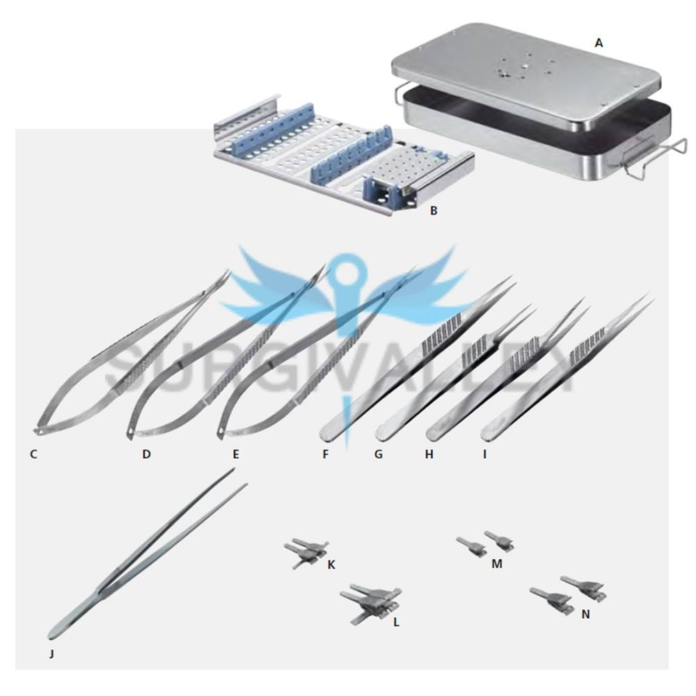 Hand Surgery Basic Set of Micro Surgical Instruments