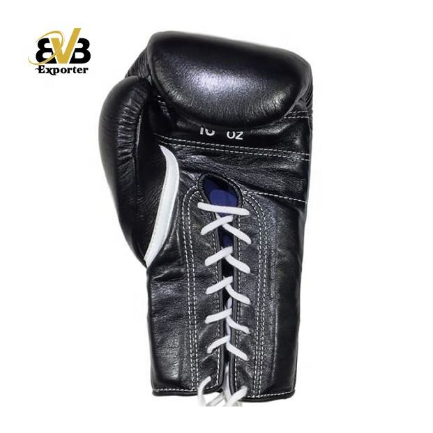 high quality cowhide leather competition boxing gloves with handmade mold padding