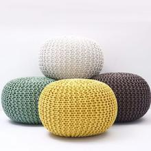 Fancy Moroccan Pouf Ottoman Round Foot Stool