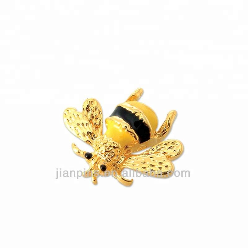 Factory Price Cheap Wholesale Custom Design Animal Shape Metal Pewter Bee Pin for Promotion Gifts