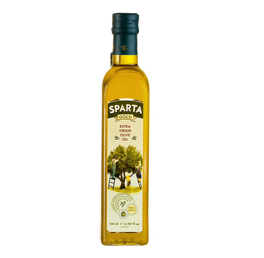 SPARTA GOLD - Greek Extra Virgin Olive Oil - glass marasca bottle 250ml
