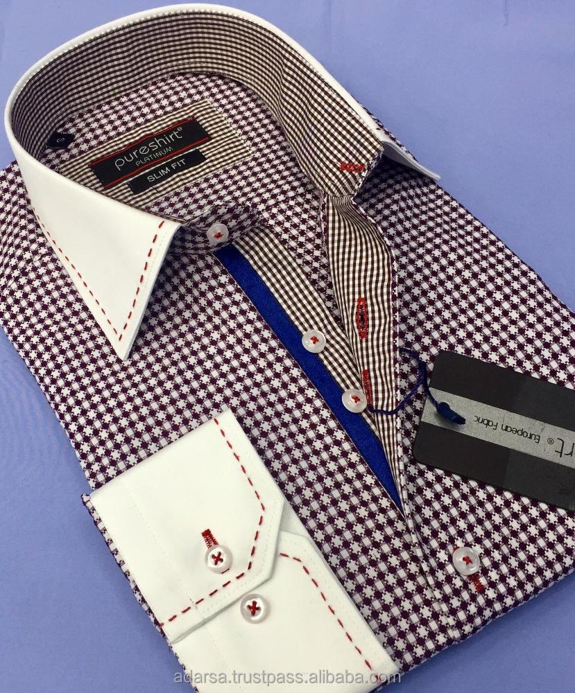 Modèle Sur <span class=keywords><strong>Va</strong></span> S'aimer coton Turc hommes de chemises