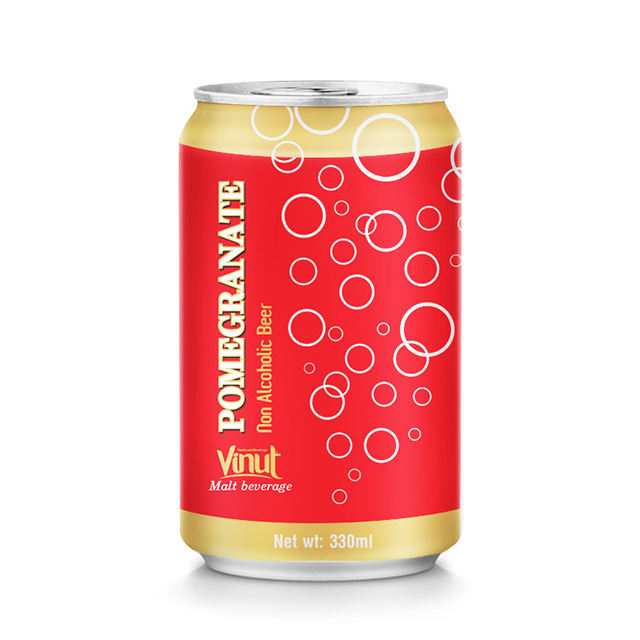 330 ml Non Alcoholic Beer Can Pomegranate