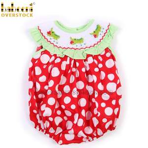 Cute crocodile smocked bubble for baby girl