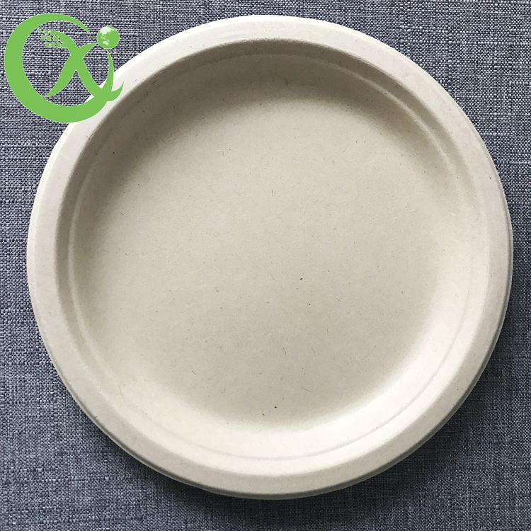 Biodegradable compostable Sugarcane bagasse round plate in 10 inch