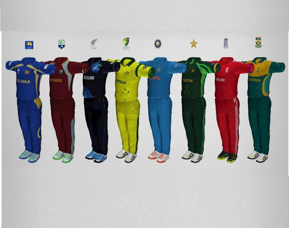 Cricket Team Uniforms Jerseys And Pants Sets