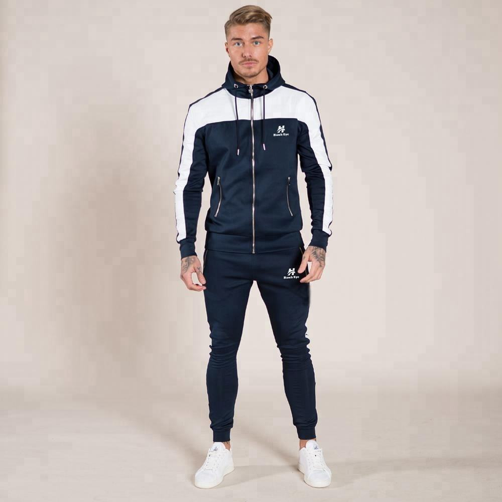 Wholesale Winter Training Wear Men Running Fitness Sports Hoodie Tracksuit manufacture by Hawk Eye Co. ( PayPal Accepted )