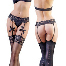 Sexy Lace Bow Garter Belt Suspender Thigh Stocking