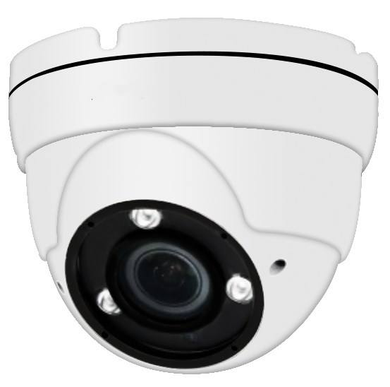Factory Direct H.265 5mp varifocal lens indoor metal dome IP66 PoE IP camera
