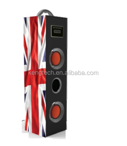 CT-8238 Brand New Uk Vlag Hout Toren Speaker