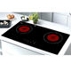 Doopen Screen Touch Black Top Panel Bridge Drive Alauminum Coil 2 Burner Hob Built In Induction Cooker Domino For Countertop