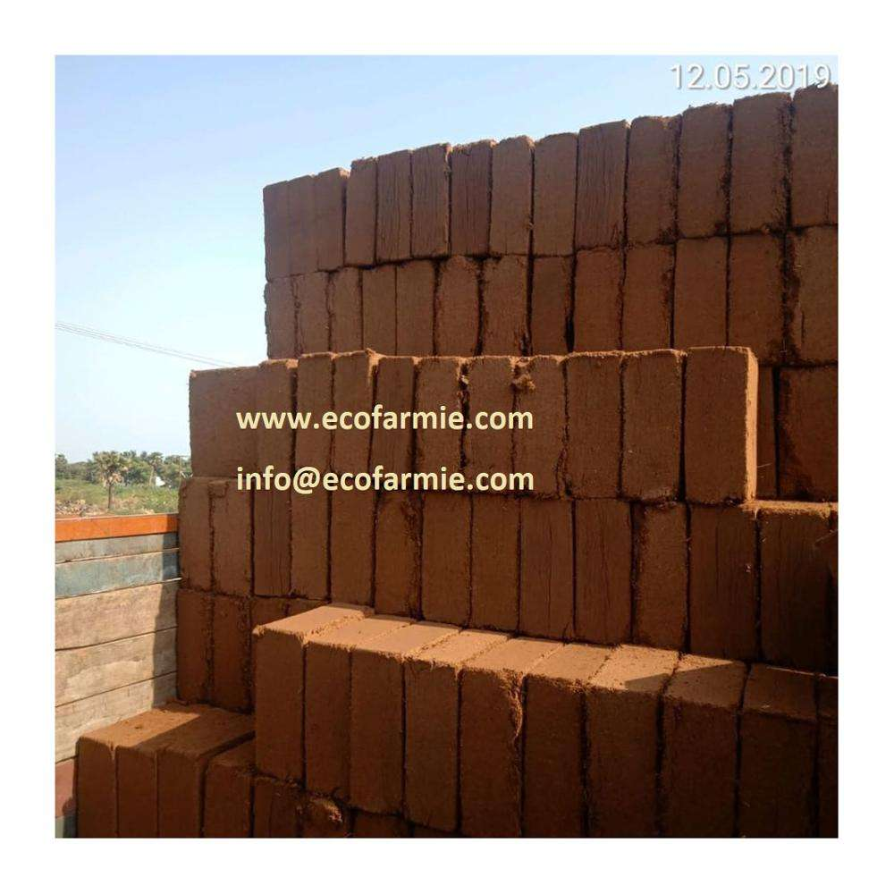 COMPRESSED COCOPEAT BLOCKS/ COCO PITH COIR BLOCK/ PEAT MOSS FOR FARMING