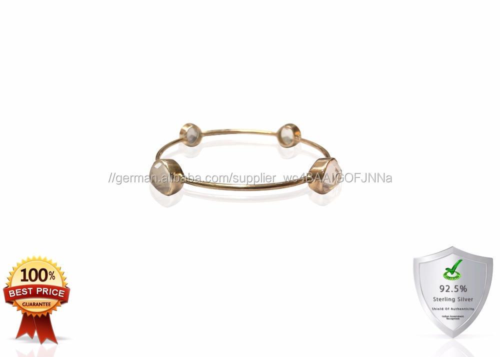 Sterling Silber Edelstein Armbänder mit Rosenquarz 925 sterling silber armband