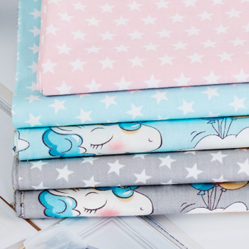 Wholesale home textile twill 100% cotton bed sheet fabric with cartoon print
