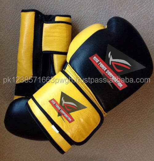 Pakistan made Personalizza Guantoni Da Boxe In Pelle