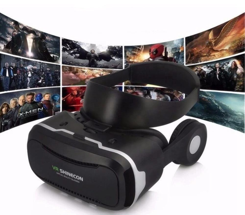 3D VR Headset Glasses with OEM logo Headphone Game Virtual Reality Box for Movie Video Glasses