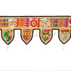 Indian ethnic window valance home decor vintage embroidered