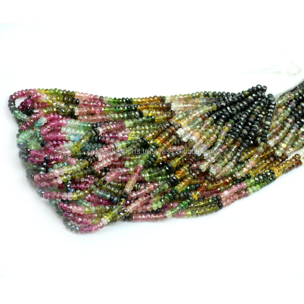 tourmaline beads in multi tourmaline colors