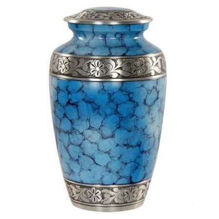 Classic Alloy Ocean Blue Memorial Metal Brass/Aluminum Adults Human Funeral Ashes Cremation urns American/European Style