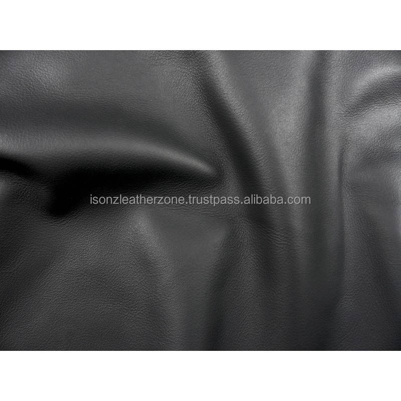 Black color chrome tanned finished Cow Hide leather for shoes,garments,Bags, Fashion wears
