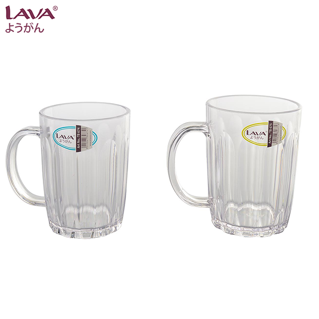 6 pcs AS Drinking Water Cup Plastic Tumbler
