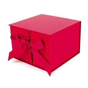 Hallmark big red cardboard box with fill for birthdays bridal showers weddings gift beauty makeup packaging