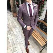 New Design Italy Design Business High Quality Slim Fit Mens Suit