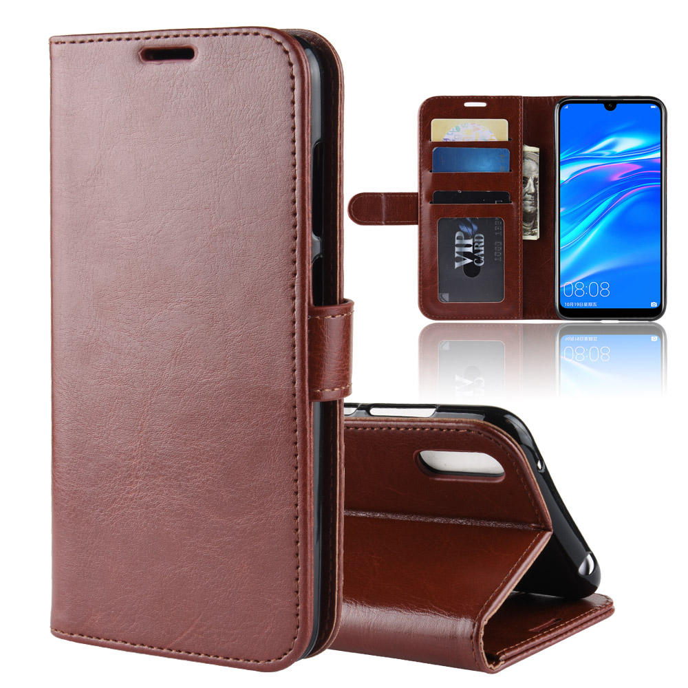R64 PU Stand Card Holder Wallet Flip Leather Case For Huawei Y7 Pro 2019 /Enjoy 9