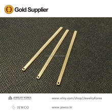 Brass jewelry stick raw brass bar long stick bar jewelry RBB-B3