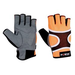 Ladies Half Finger Leather Gym Fitness Gloves