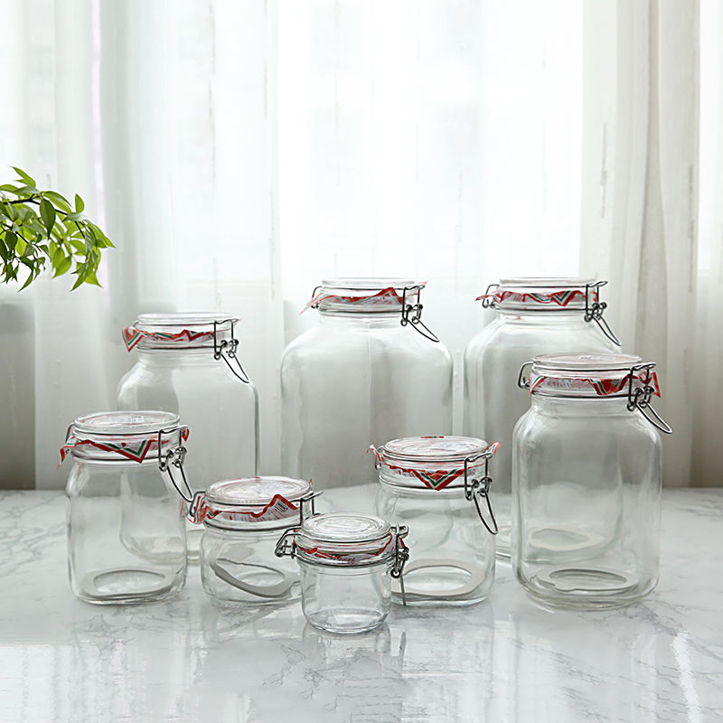 Factory Direct sale glass cookie jar
