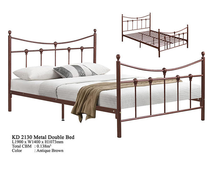 Antique Metal Domica KD-2130 Super Double/Queen Bed Design Malaysia