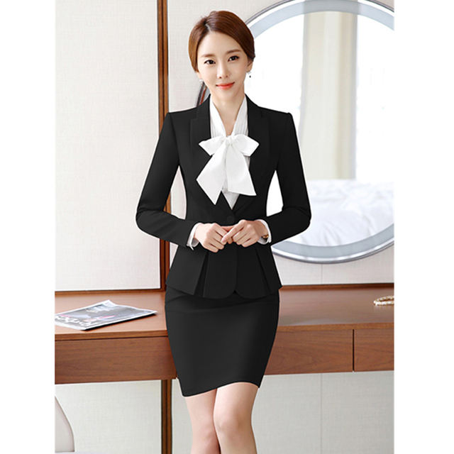 Latest design lady uniform for office staff