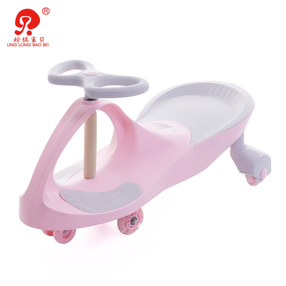 Cute macaron color children plastic twisting ride on sports car with EN71, ASTM certified