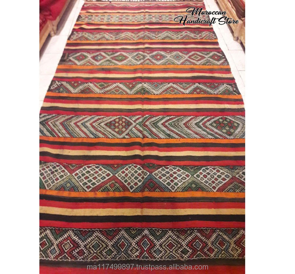 BEAUTIFUL Moroccan kilim sabra rug Berber Handwoven wool carpet